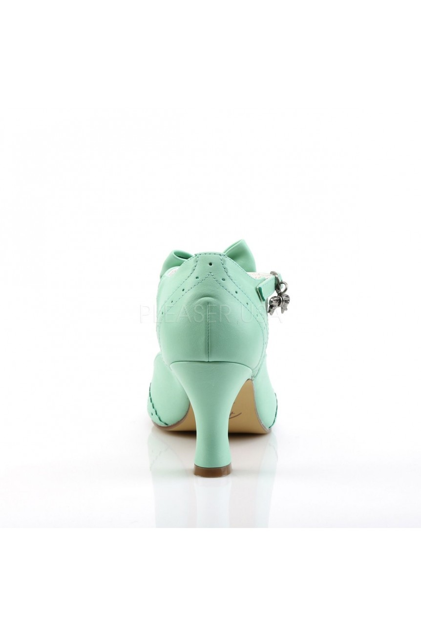 Chaussures pin up vert retro