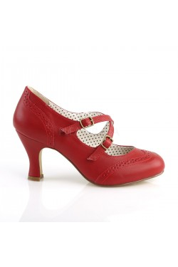 Chaussure pinup flapper 35 rouge