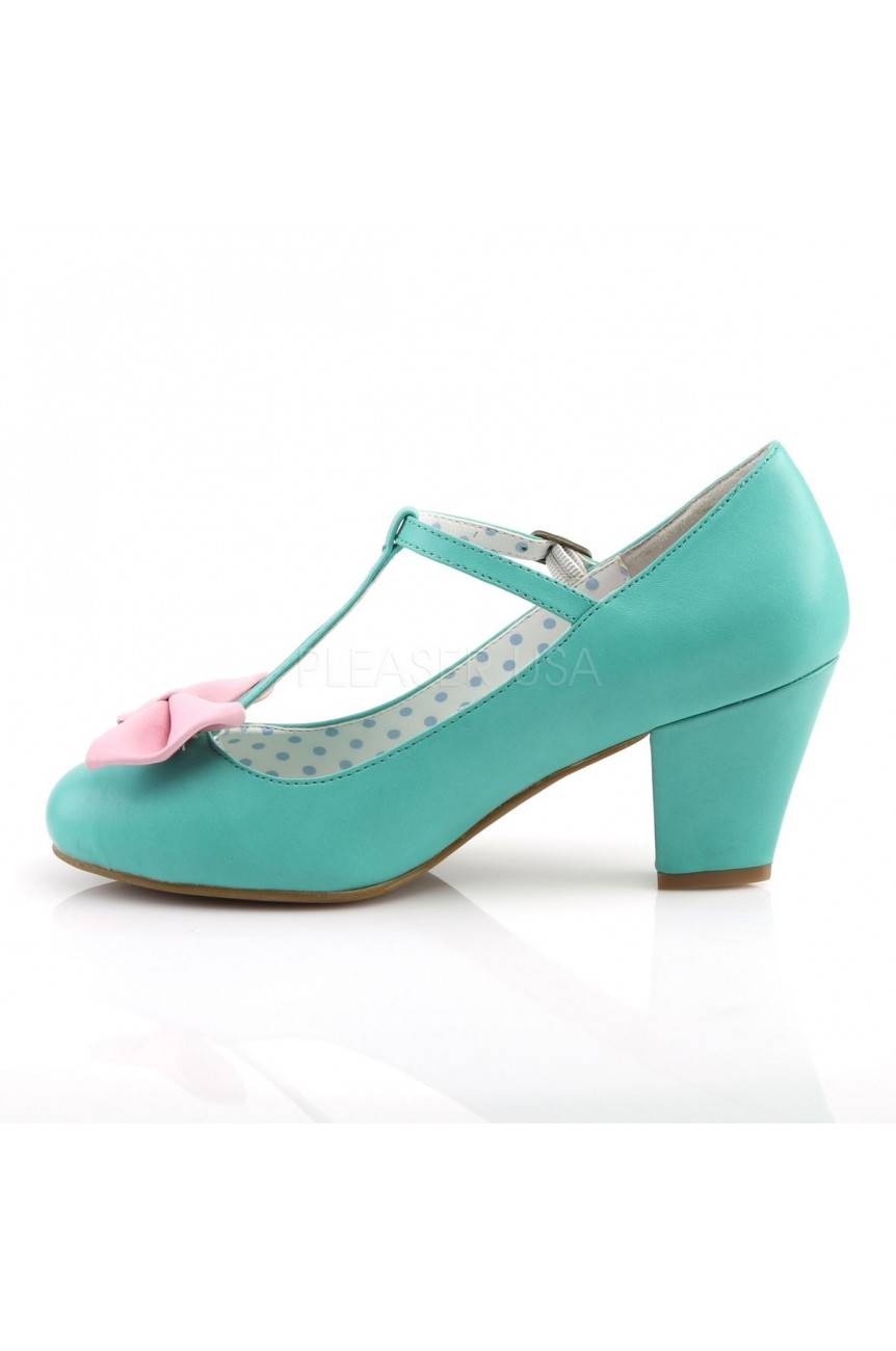 Chaussures vert vintage wiggle 50