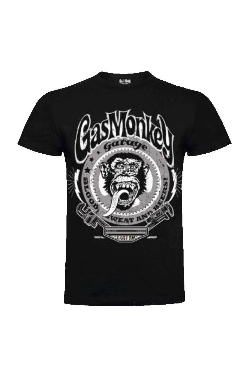 Gas monkey garage tee shirt clé a griffe