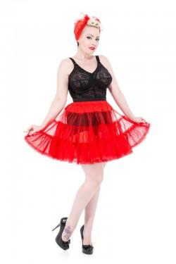 Jupon court rouge pour robe vintage