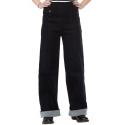 Pantalon sailor jean noir taille haute