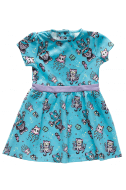 Robe rock n roll bleue enfant