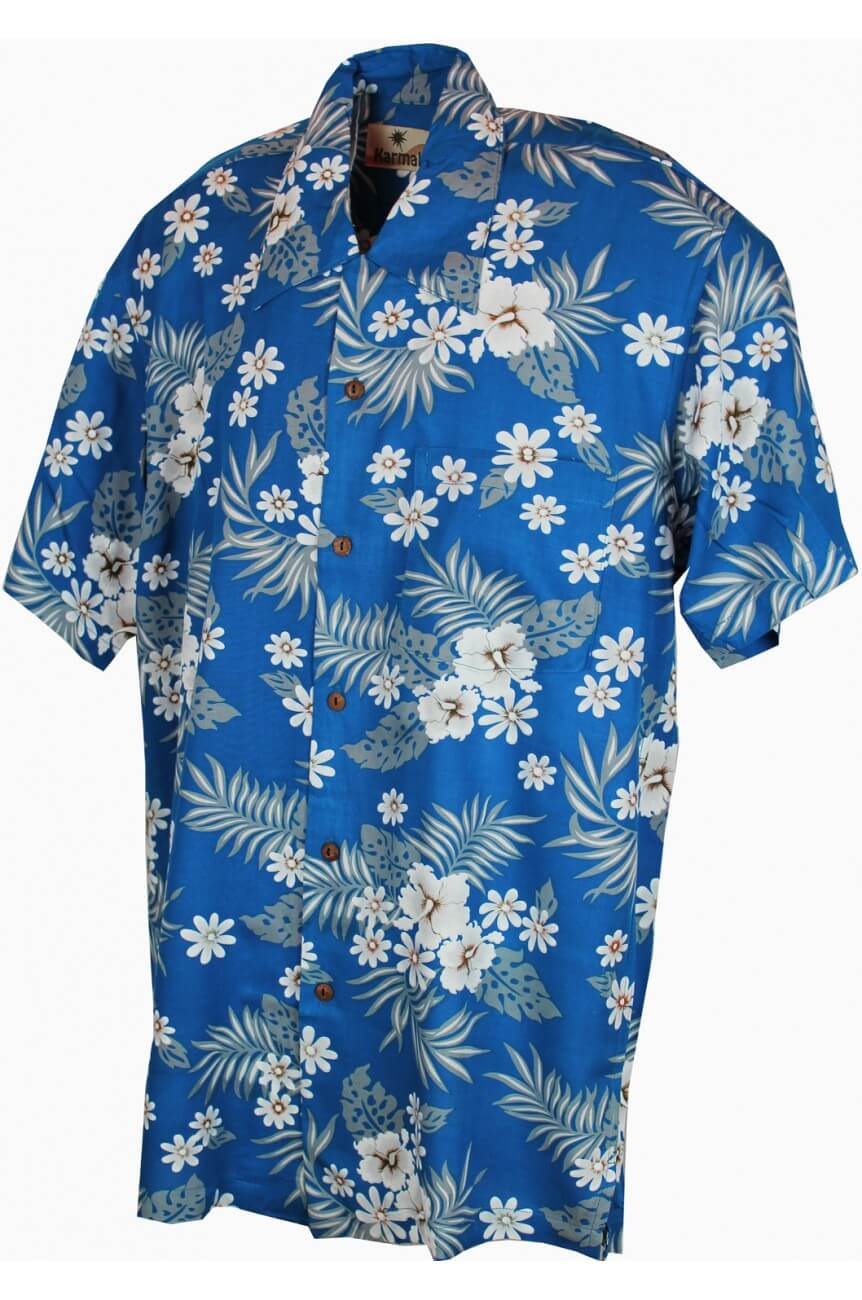 Chemise hawaienne hommebleu homme