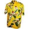Chemise hawaiienne jaune homme