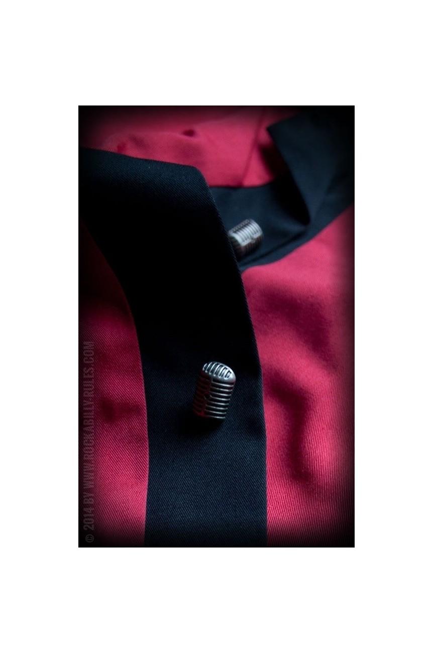 Chemise rockabilly rouge et noire