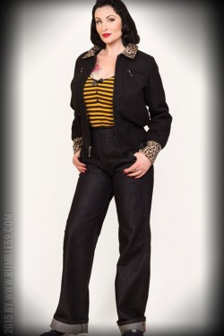 Veste rockabilly léopard Rumble59