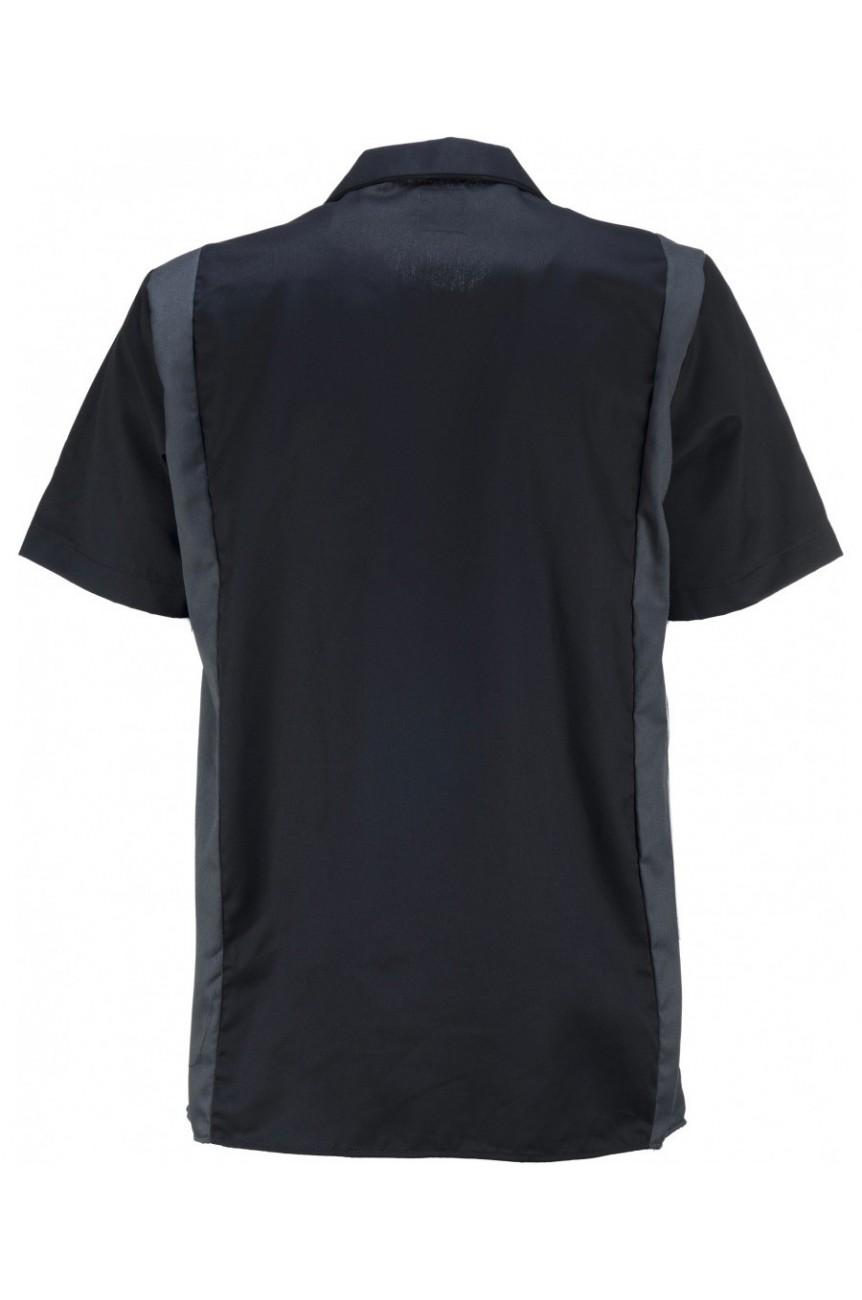 Chemise dickes noire et grise