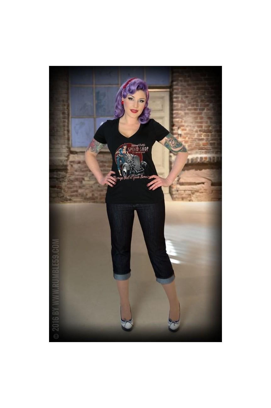 Rumble59 tee shirt hot rod femme