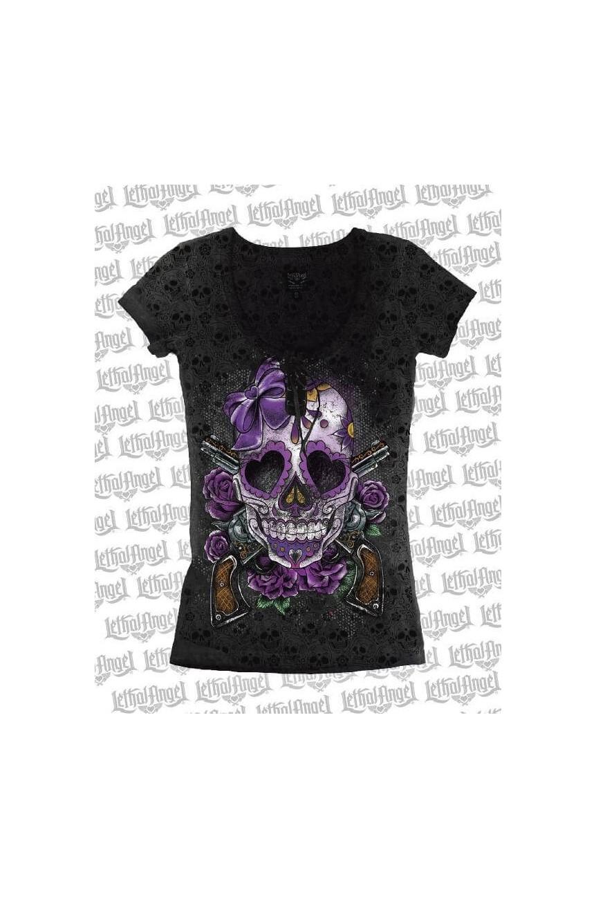 Tee shirt rock tete de mort
