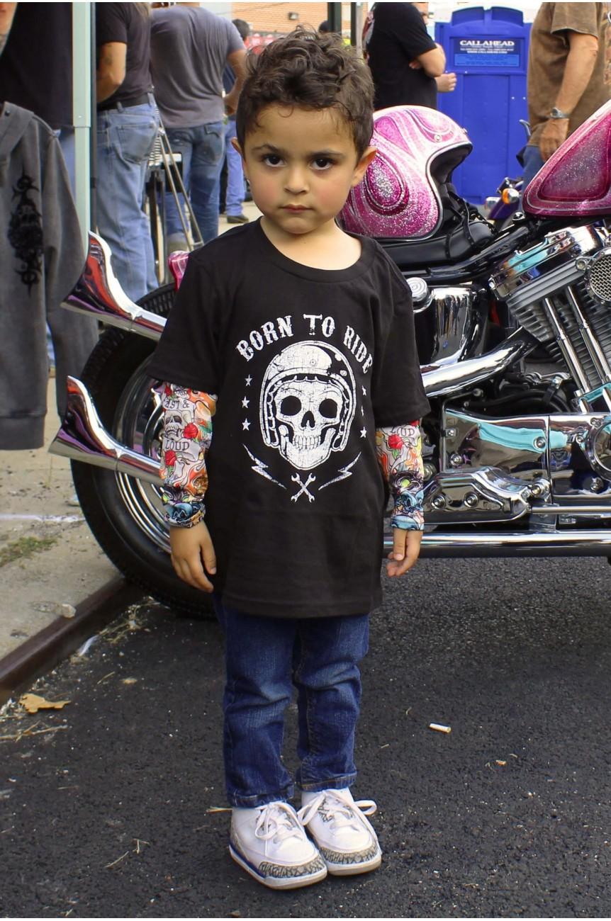 Tee shirt enfant born to ride