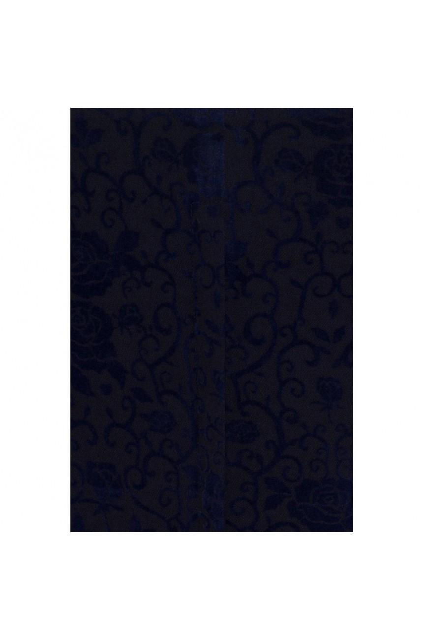 haut retro bleu brocade année50