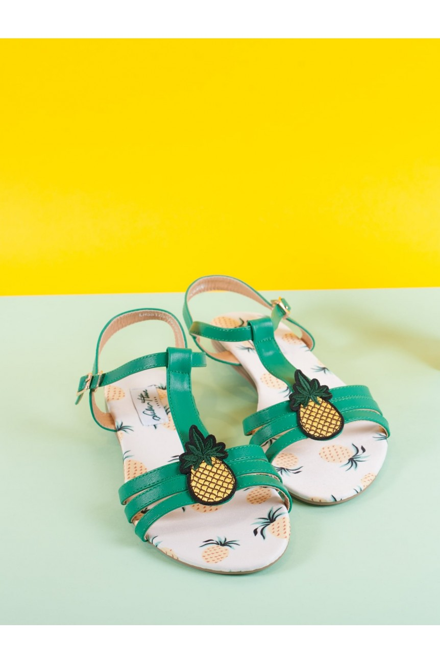 Sandales ananas pinup