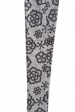 Bandeau vintage motif fleurs et dentelle