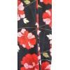 Bandeau cheveux femme fleur noir et rouge