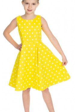 Robe pin-up a pois enfant