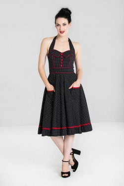 Robe swing a pois pin up