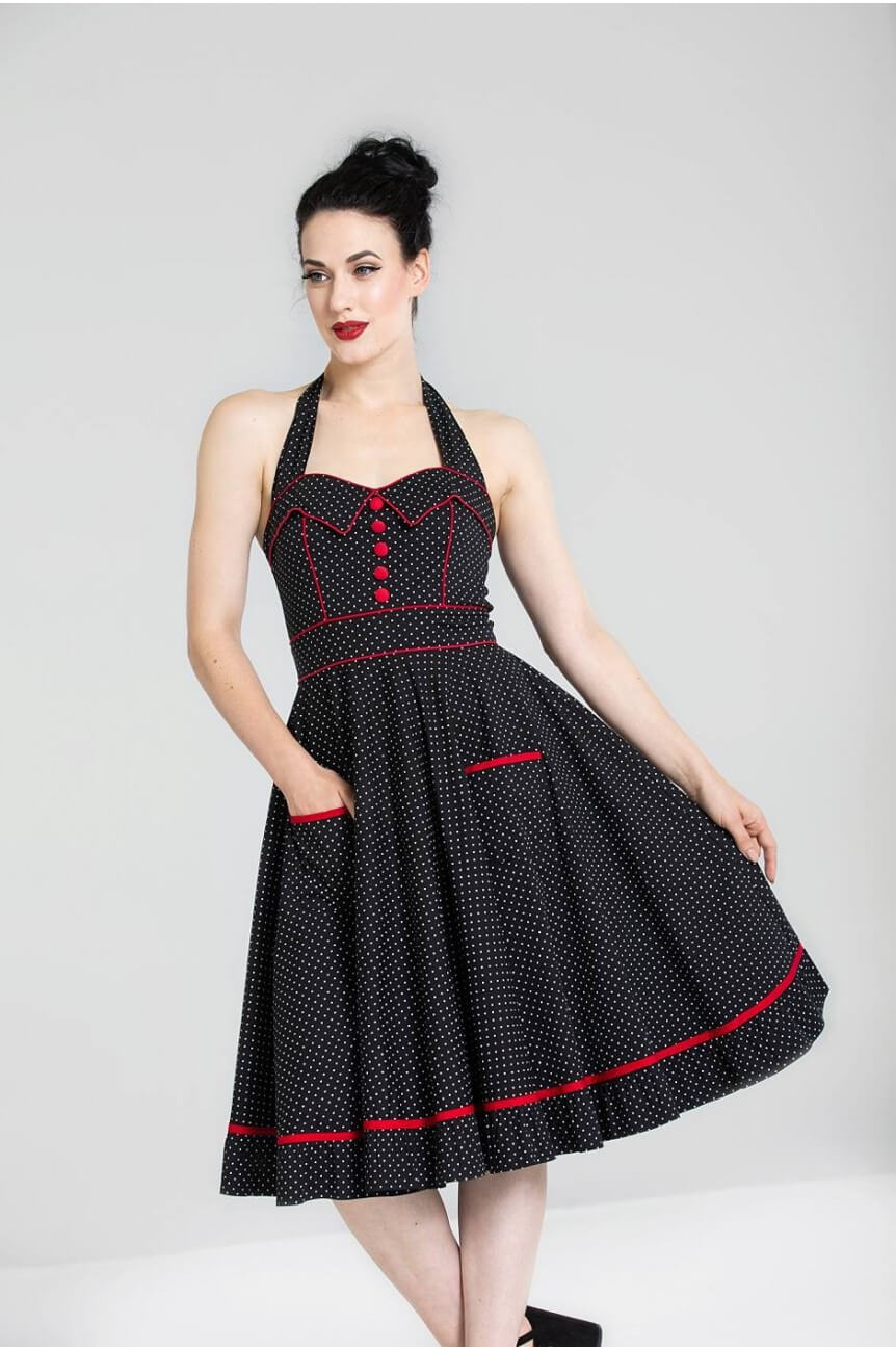 Robe swing a pois HELL BUNNY