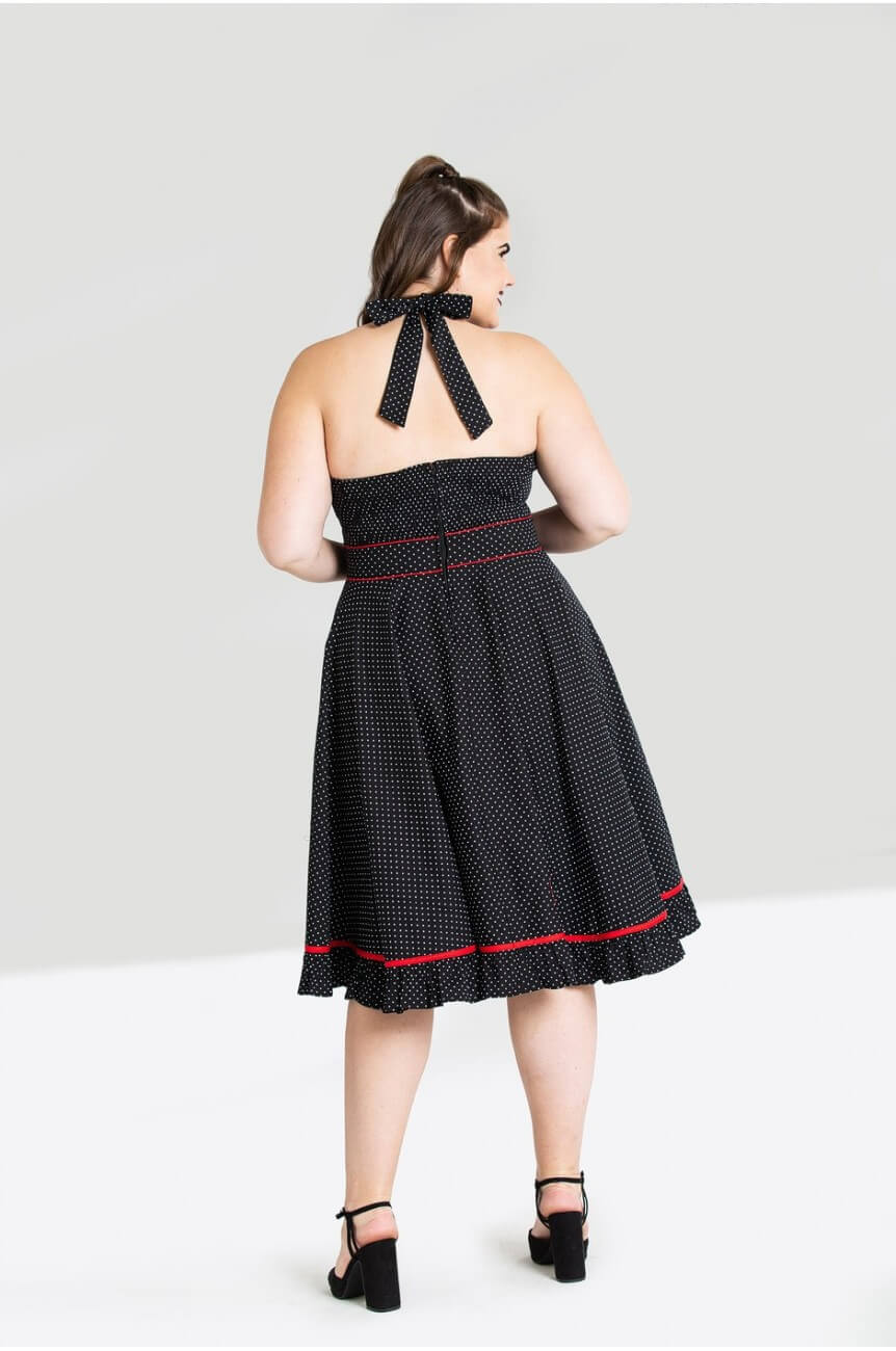 Robe a pois pin up femme ronde