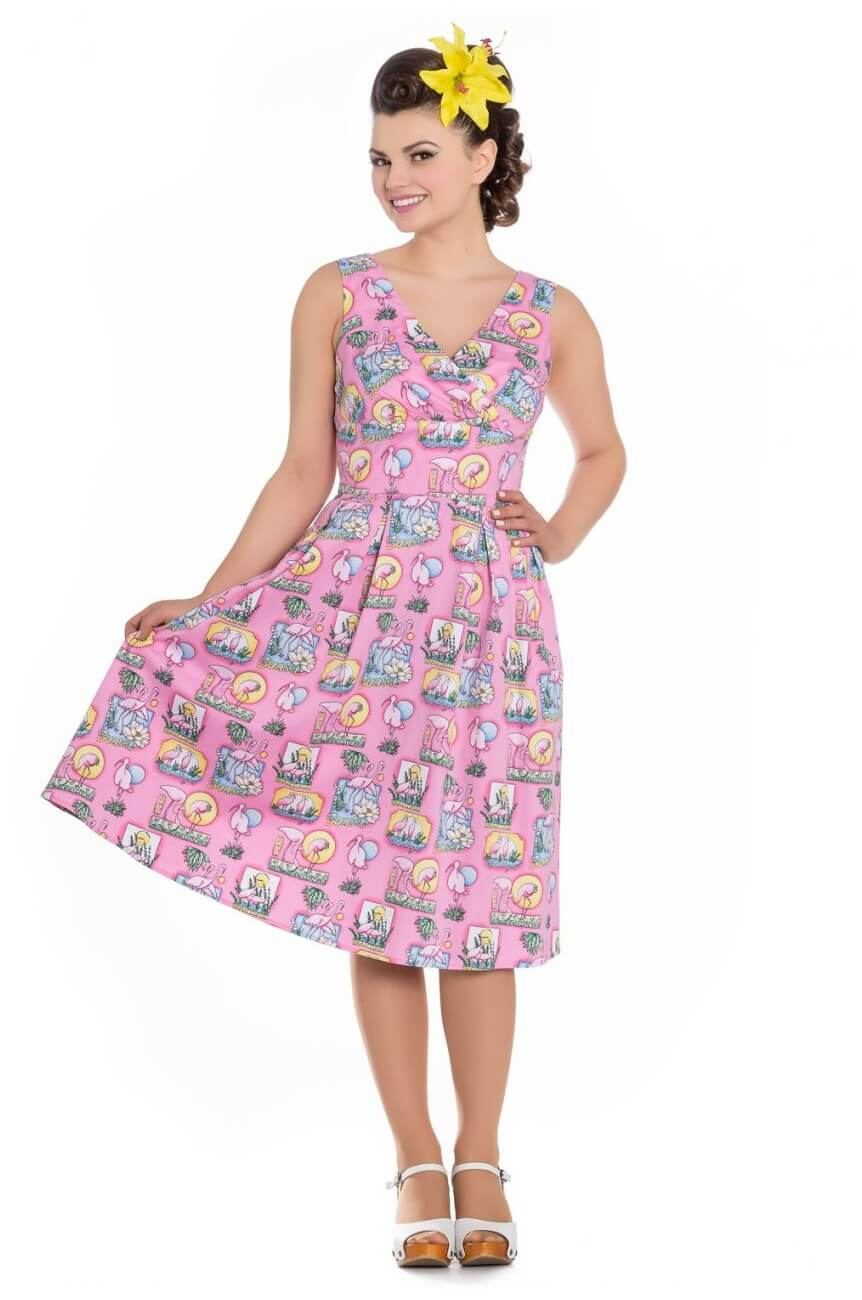 Robe finies flamingo rose