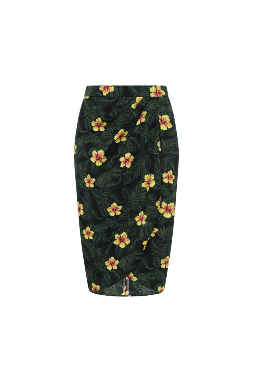 Jupe portefeuille hibiscus collectif
