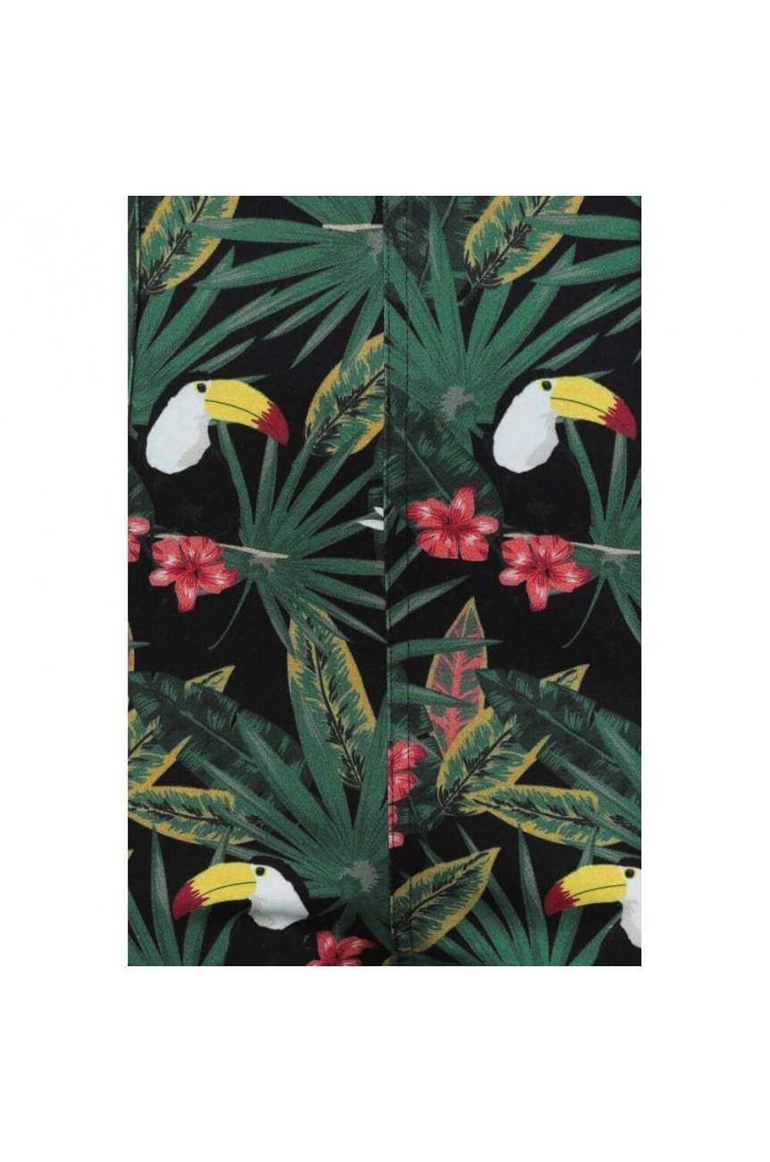 Pantalon motif tropical