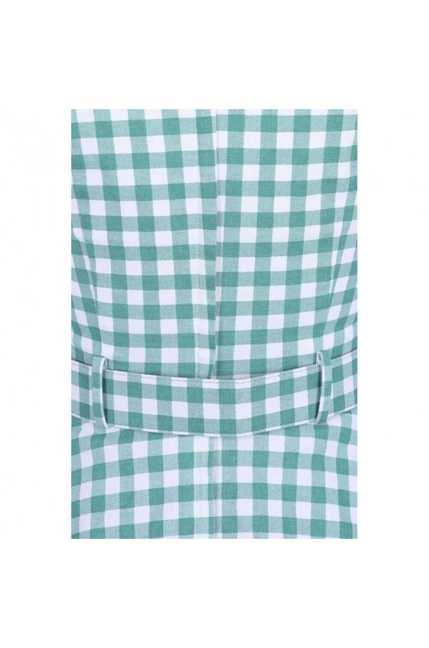 Robe vichy swing vert d'eau