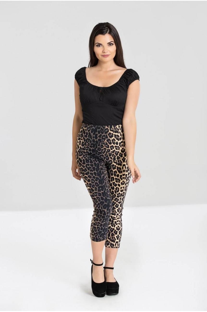 Pantacourt rockabilly léopard