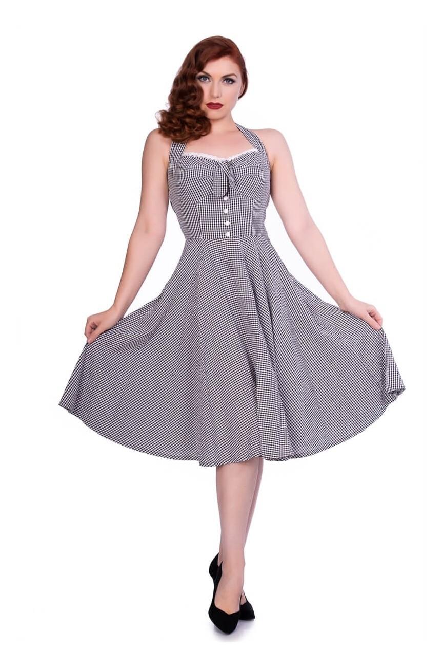 Robe vichy années 50 dos nu