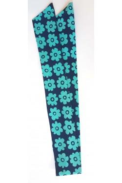 Bandeau cheveux avec fil fer fleur bleue