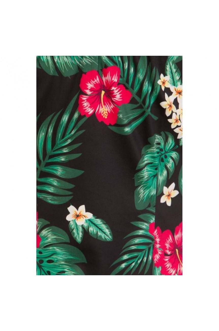Haut vintage a motif tropical