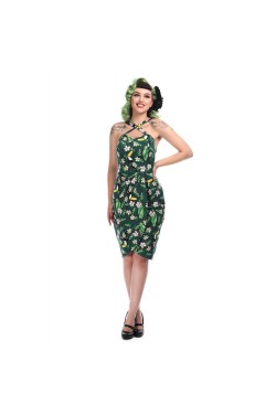 Robe portefeuille tropicale hibiscus