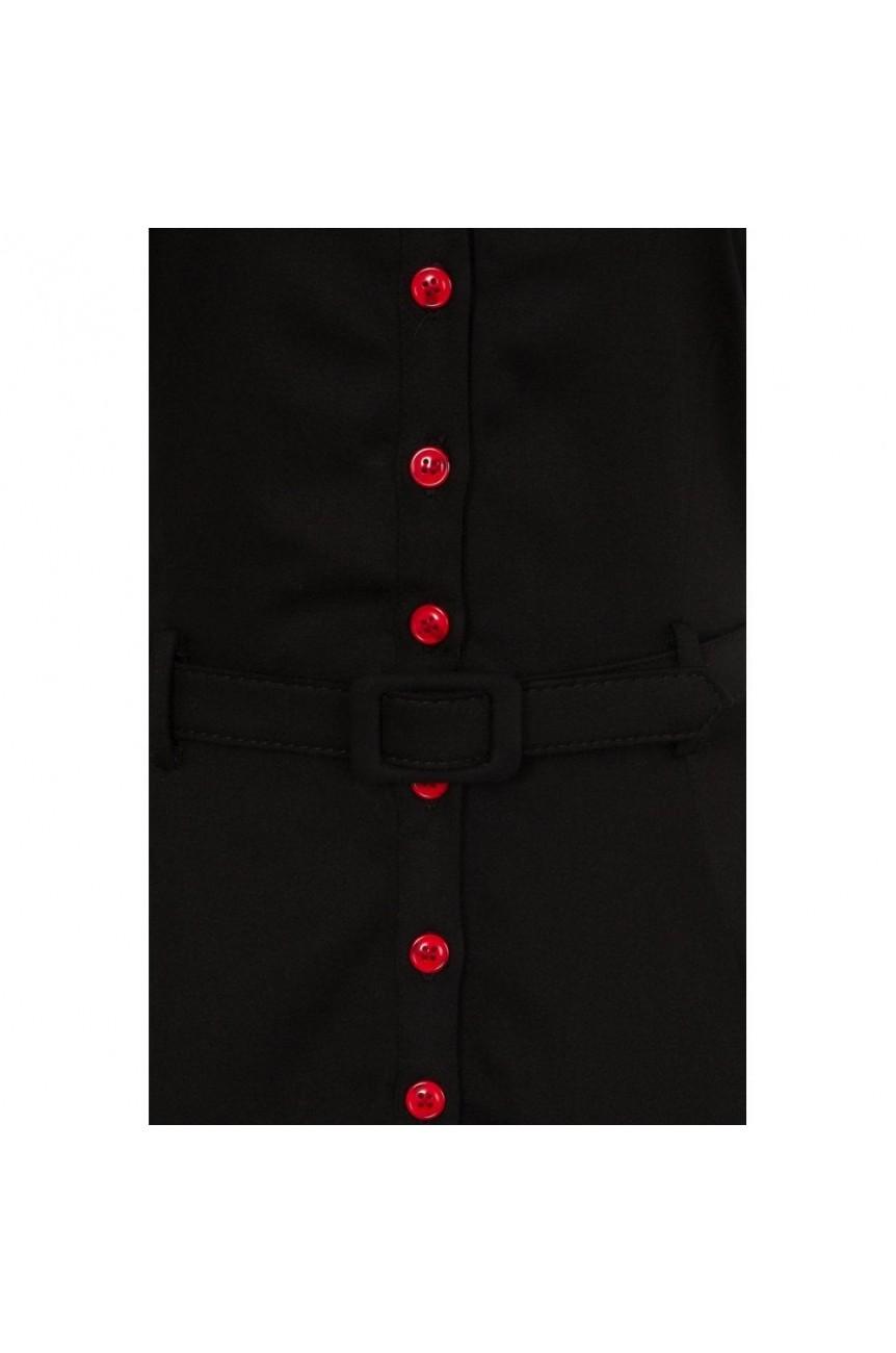 Robe rockabilly noire brodée pinup