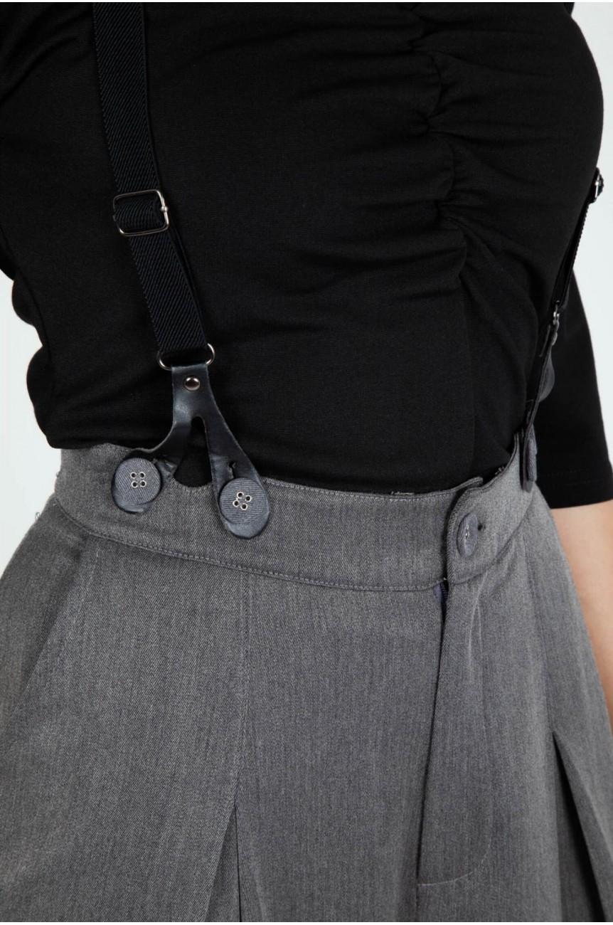 Pantalon vintage large gris