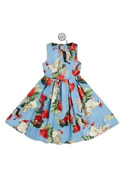 Robe vintage bleue enfant pinup
