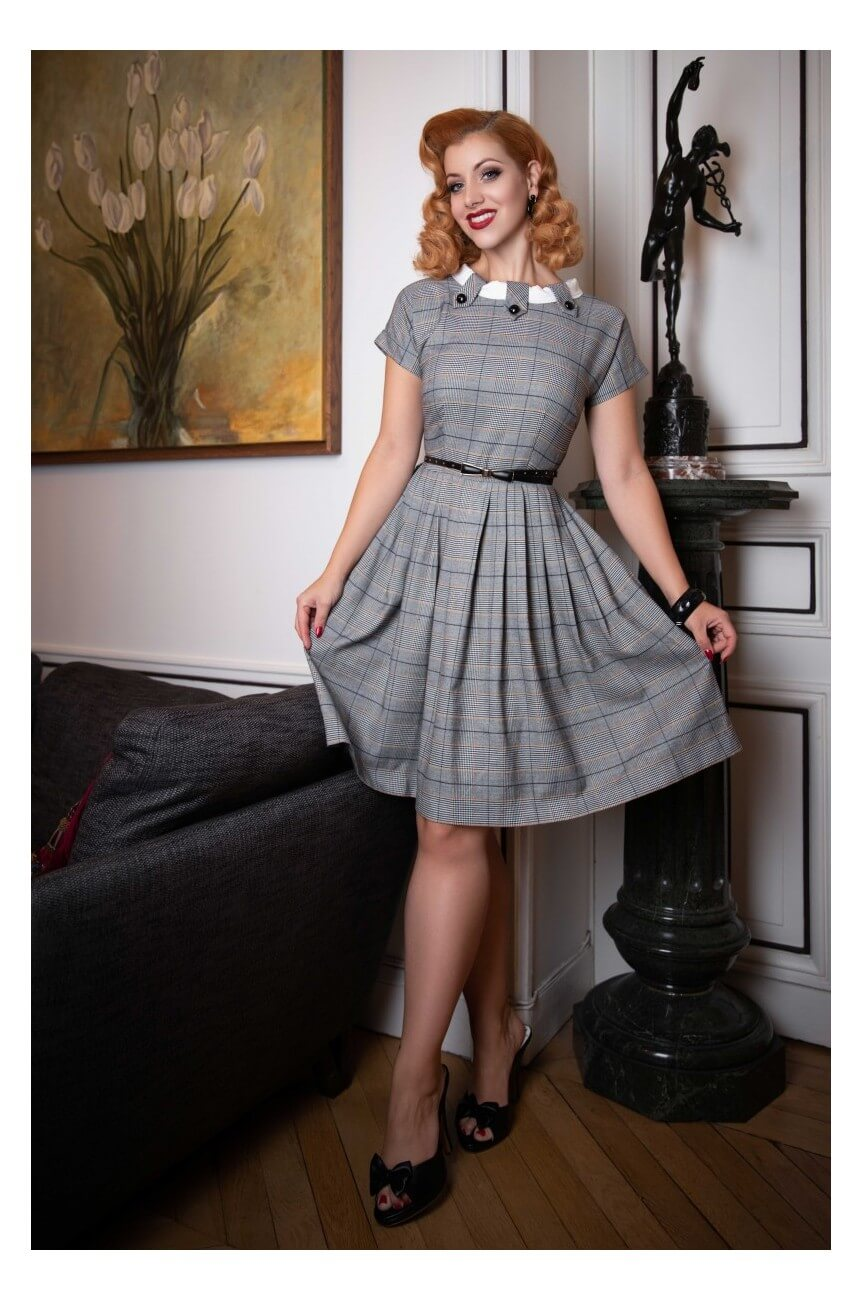 Robe vintage a carreaux