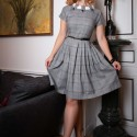 Robe vintage a carreaux