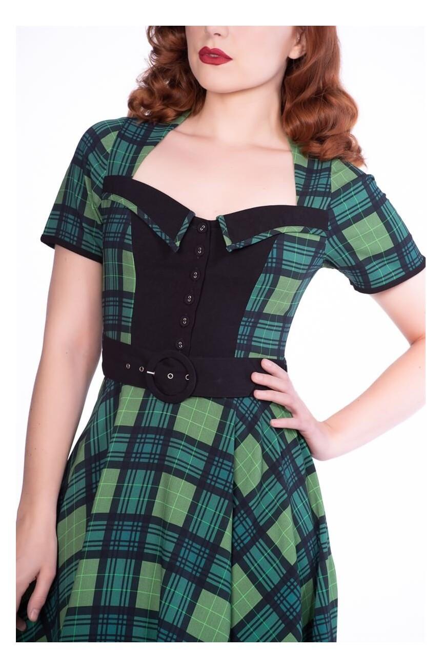 Robe écossais vert vintage