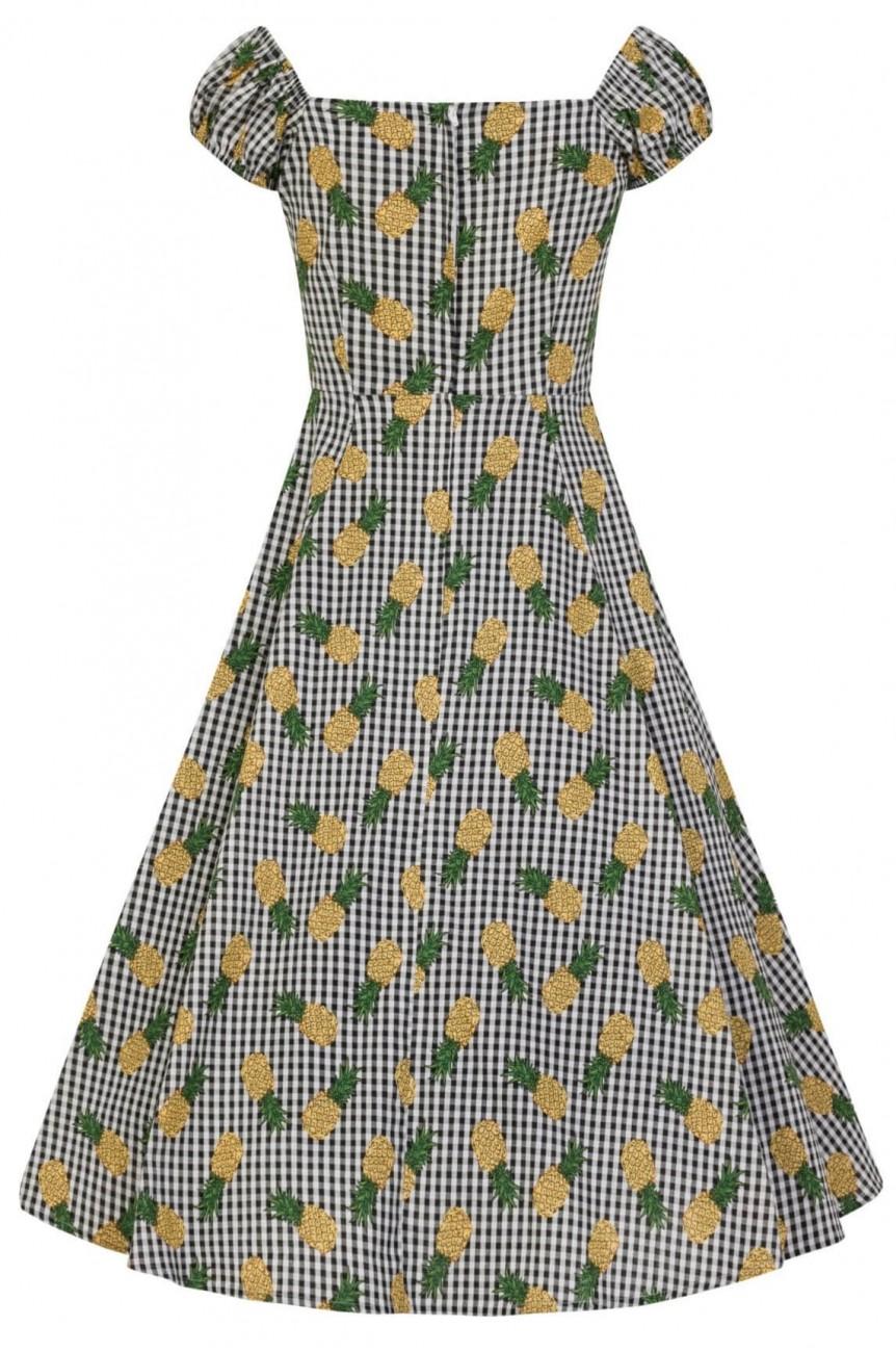 Robe 1950 imprimé ananas
