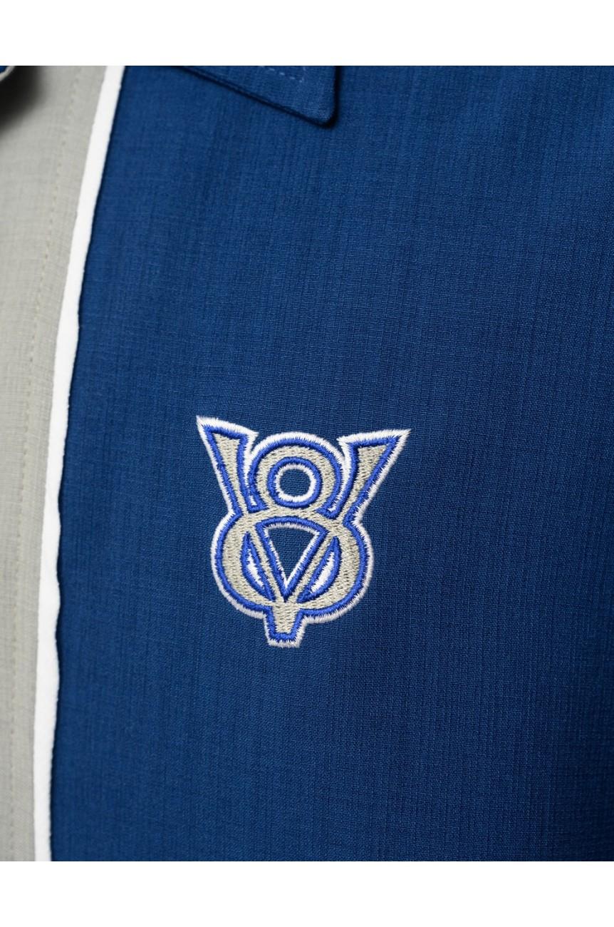 Chemise bouton V8 steady bleue