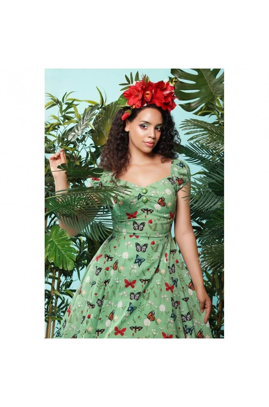 Robe papillons pin-up