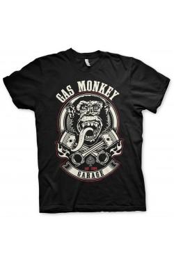 Tee shirt gas monkey garage pistons et flames