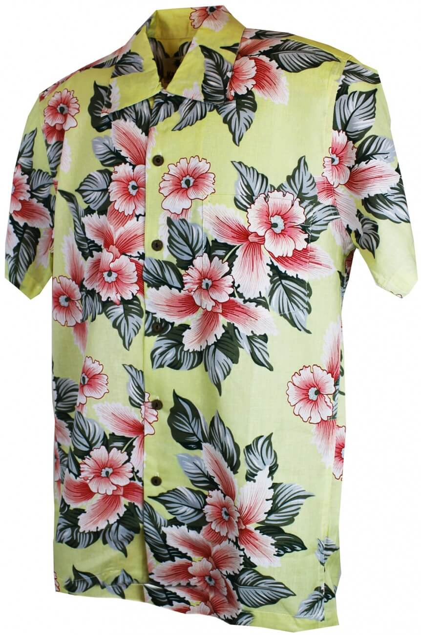Chemise hawaïenne beige homme