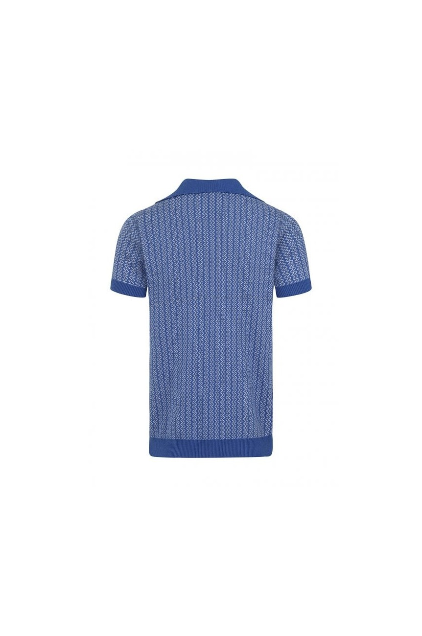 Polo vintage bleu pour homme