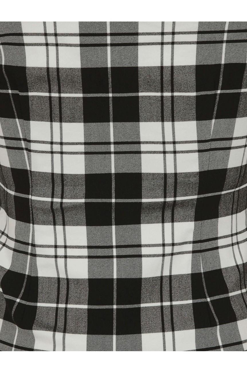 Haut vintage écossais noir et blanc