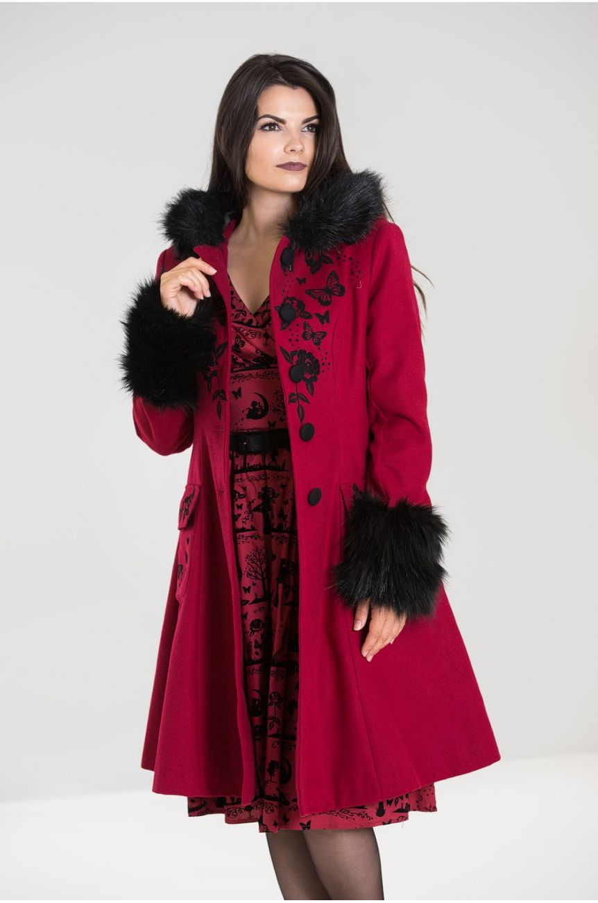 Manteau hell bunny Anderson rouge