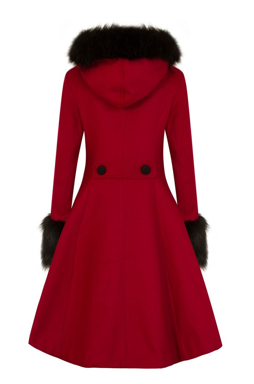 Manteau hell bunny vintage rouge