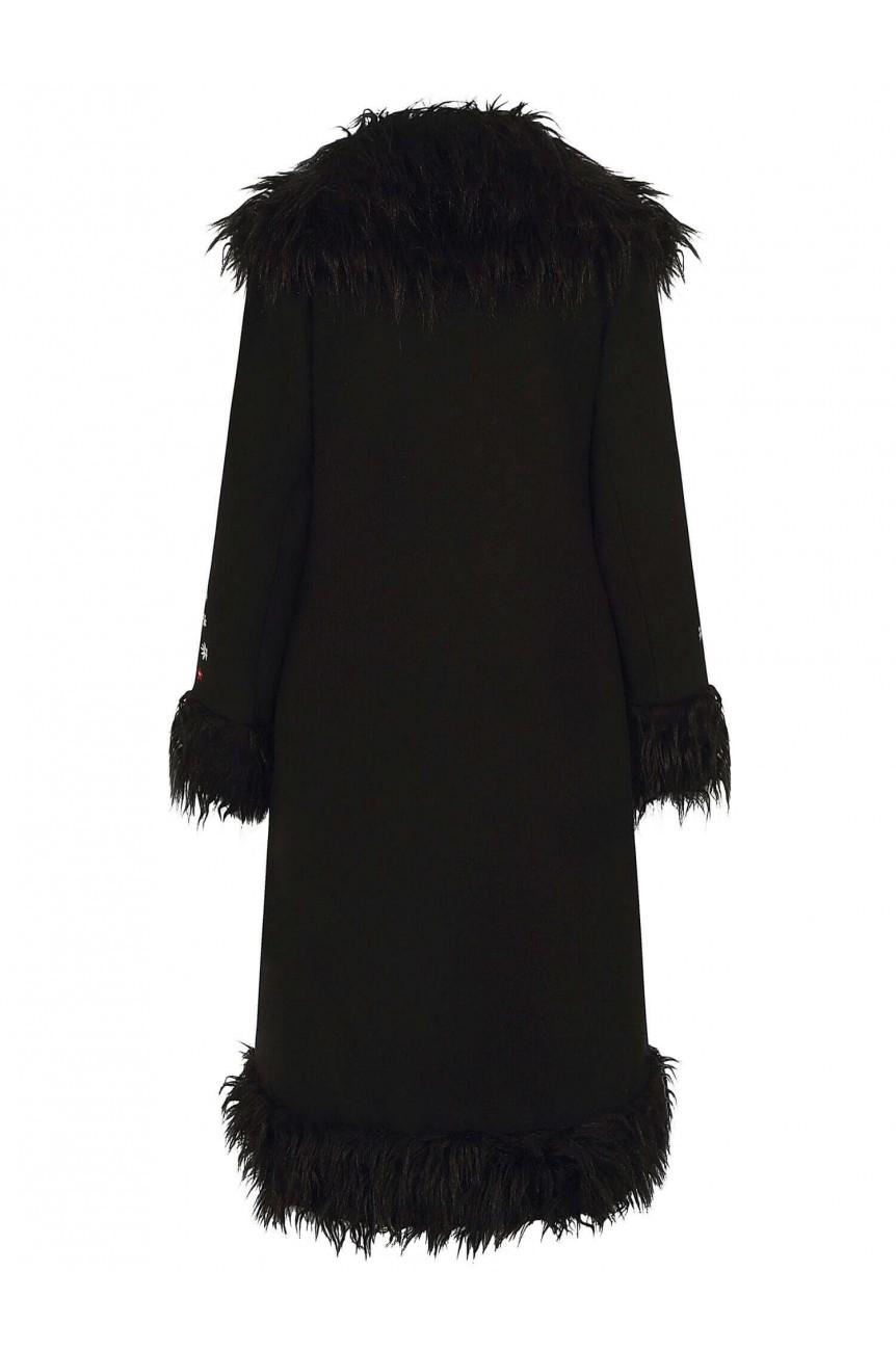 Manteau vintage avec fausse fourrure