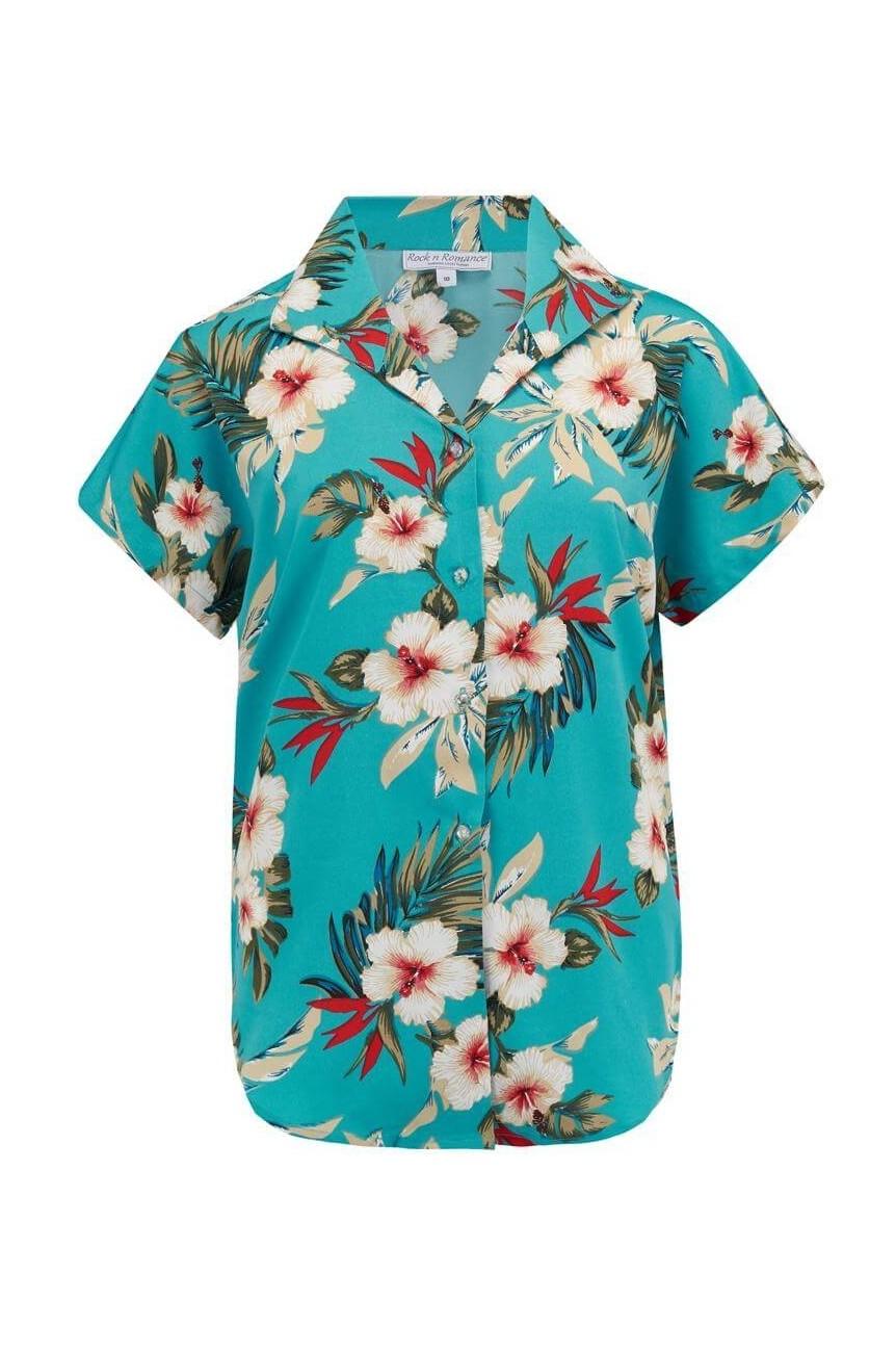 Cache coeur imprimé hawaïen