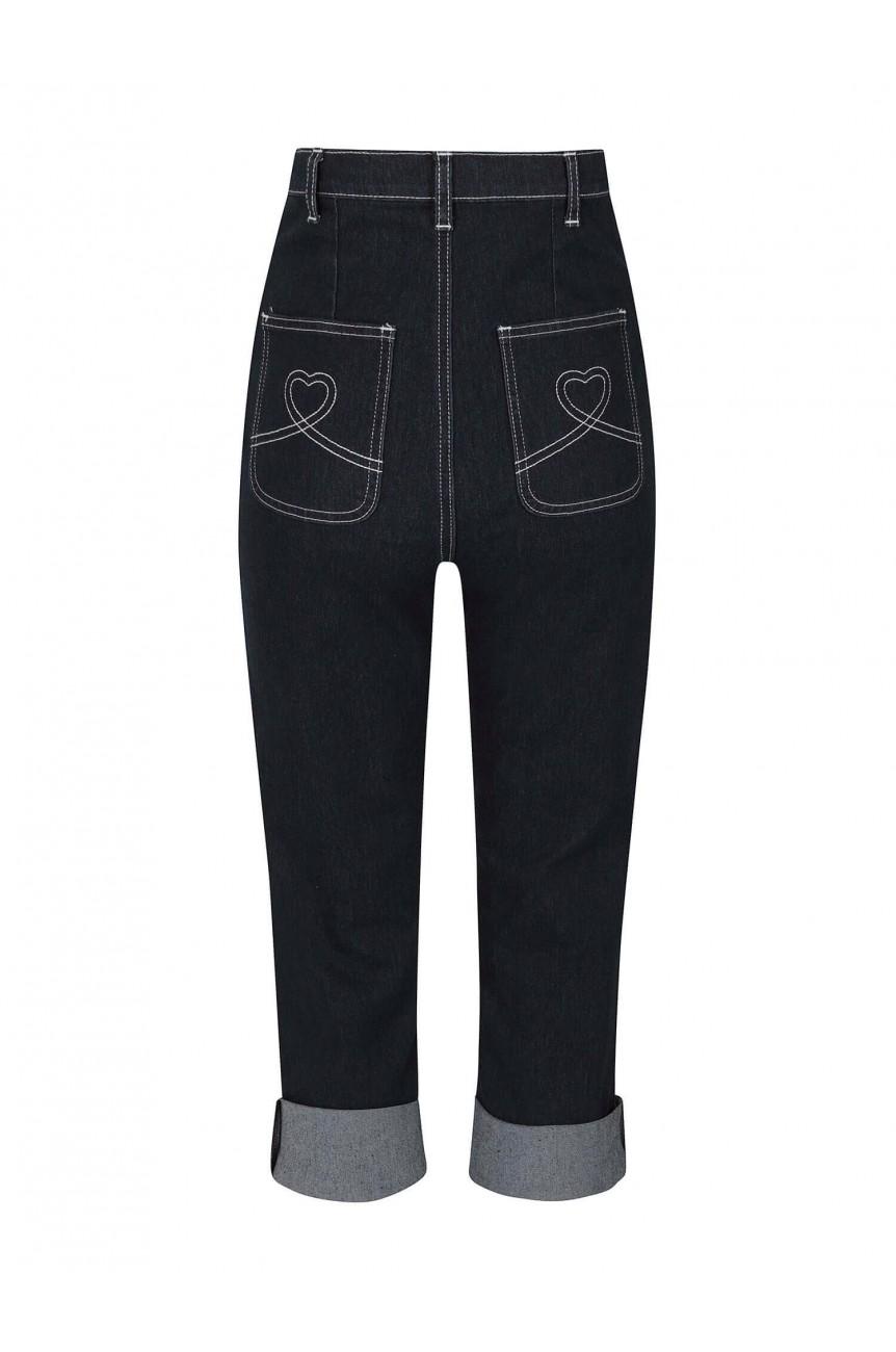 Capris en jean bleu Collectif